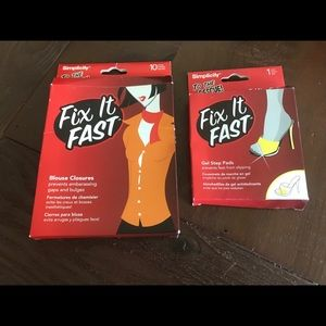 Fix it fast Set of 2 blouse closures and gel pads